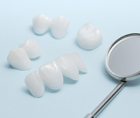 Multiple types of metal-free dental restorations