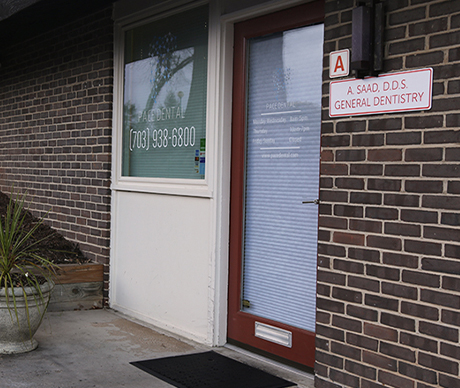 Front door of Pace Dental