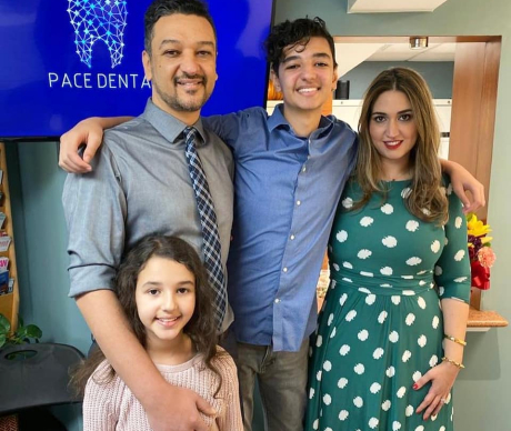 Dr. Saad and his family