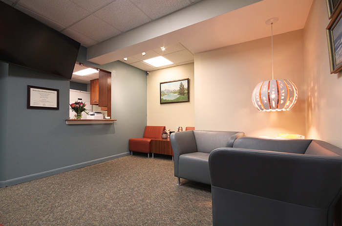 reception area of dental office