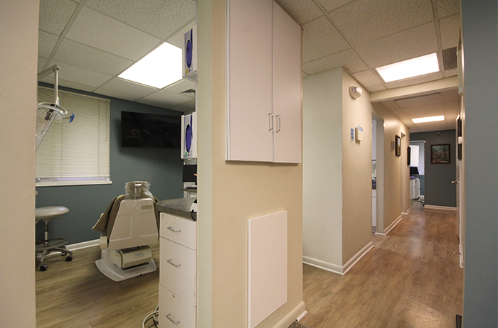 hallway of dental office