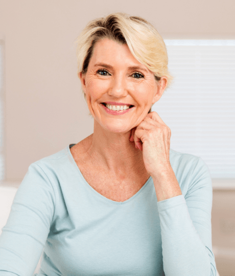 Woman sharing flawless smile